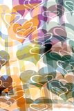 Pattern with hearts. Garlands of pastel colored hearts Royalty Free Stock Image