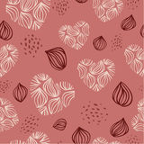 Pattern with hearts. Vector seamless pattern with hearts Royalty Free Stock Photos