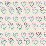 Pattern with hearts, vector  Stock Image