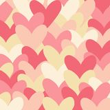 Pattern with hearts. stock illustration