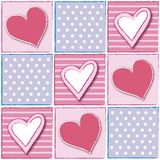 Pattern with the hearts Stock Image