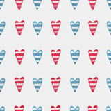 Pattern with hearts Royalty Free Stock Images