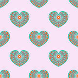 Pattern with hearts Royalty Free Stock Photography