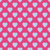 Pattern with hearts. Flat Scandinavian style for print on fabric, gift wrap, web backgrounds, scrap booking, patchwork Royalty Free Stock Photography