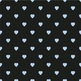 Pattern with hearts. Flat Scandinavian style for print on fabric, gift wrap, web backgrounds, scrap booking, patchwork Stock Photography