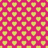 Pattern with hearts. Flat Scandinavian style for print on fabric, gift wrap, web backgrounds, scrap booking, patchwork. Vector illustration Seamless background royalty free illustration