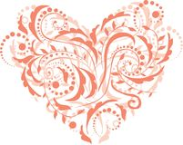 Pattern hearts Stock Image