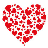 Pattern of hearts isolated object vector Royalty Free Stock Images