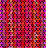 Pattern  with hearts,  love for valentines Day . Vector Stock Photo