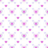 A pattern of hearts Royalty Free Stock Images