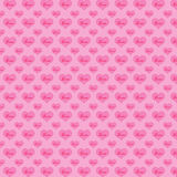 Pattern hearts on a pink background Stock Image