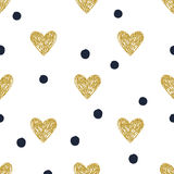 Pattern hearts polka dot Royalty Free Stock Photos