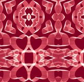 Pattern of hearts on a red background for the Valentines Day, Mother`s Day. Vector. royalty free stock image