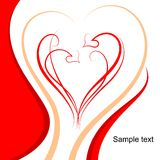Pattern of hearts and scrolls Royalty Free Stock Image