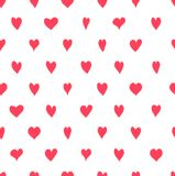Pattern with Hearts. Seamless pattern with hand drawn hearts Stock Photo