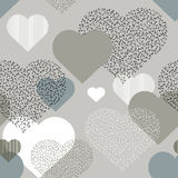 Pattern of hearts Royalty Free Stock Photo