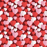Pattern of hearts Stock Photography
