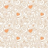 Pattern with hearts Stock Image