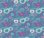 Pattern with hearts. Seamless pattern for Valentine's day in a drawing style Stock Photography