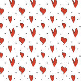 Pattern with hearts. Vector EPS of pattern with hearts Stock Image