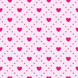 Pattern with hearts. Vector illustration Stock Photo