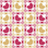 Pattern with hearts Stock Photos