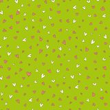 Pattern with hearts. Vector seamless pattern with lovely hearts for your business stock illustration
