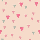 Pattern with hearts Stock Photo