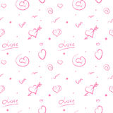pattern with  hearts Stock Photography