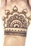 Pattern henna woman`s hands Stock Photo