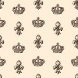 Pattern of heraldic symbols Royalty Free Stock Images