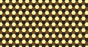 Pattern hexagon. Black and white on brown background Stock Images