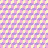 The pattern hexagon. The pattern of colored hexagons is very irregular Stock Images