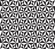 Pattern with hexagonal stars. Vector seamless texture with black and white triangles, mosaic endless pattern. Abstract geometric pattern with hexagonal stars Stock Photography