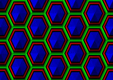 Pattern hexagons. Royalty Free Stock Images