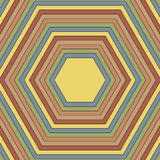 Pattern of hexagons of different colors. Raster 4 Royalty Free Stock Image