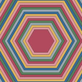 Pattern of hexagons of different colors. Raster 4 Stock Photo