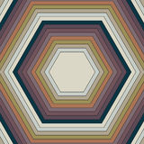 Pattern of hexagons of different colors. Raster 2 Royalty Free Stock Image