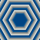 Pattern of hexagons of different colors. Raster 6 Stock Photo