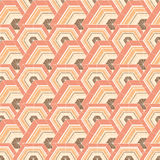 The pattern of hexagons Stock Photo