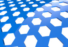 A pattern of hexagons Royalty Free Stock Photo