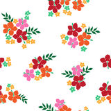 Pattern of the Hibiscus. I drew Hibiscus for a design Royalty Free Stock Photo