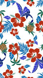 Pattern of the Hibiscus. I drew Hibiscus for a design Stock Photos