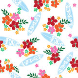Pattern of the Hibiscus Royalty Free Stock Image