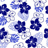 Pattern of the Hibiscus Royalty Free Stock Photo