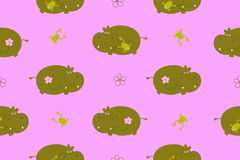 Pattern with hippo Royalty Free Stock Images