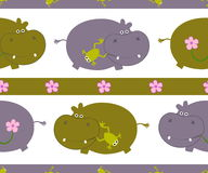 Pattern with hippo Royalty Free Stock Image