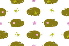 Pattern with hippo Royalty Free Stock Photography