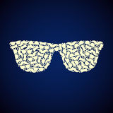 Pattern hipster. Glasses, monochrome, vector format Stock Photography