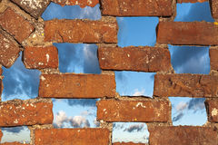 Pattern from holes in a wall Royalty Free Stock Photography